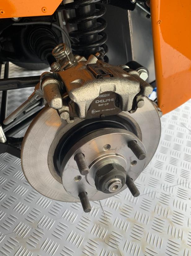Remove one rear wheel