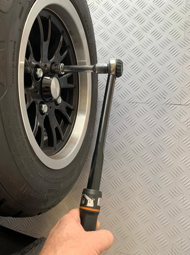 Refit the rear wheel